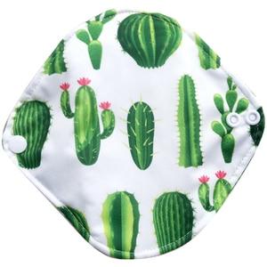 Image 2 - Free shipping organic bamboo inner washable reusable Feminine Hygiene menstrual pads sanitary pads lady cloth pad panty liner1pc