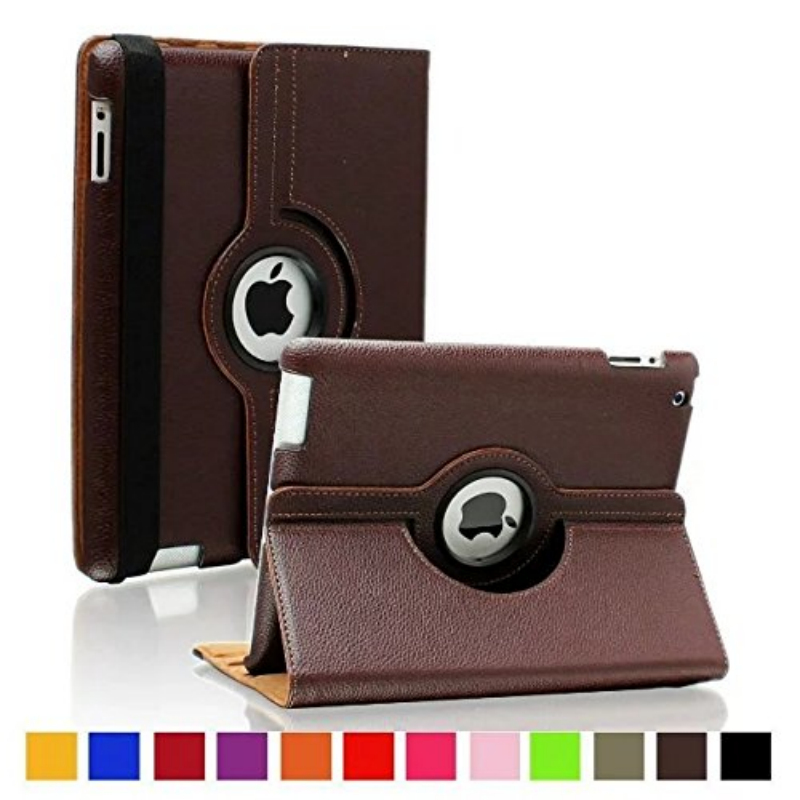 Cover For IPad Air 2 Case 360 Degree Rotating Stand Case With Smart Cover Auto Sleep/Wake
