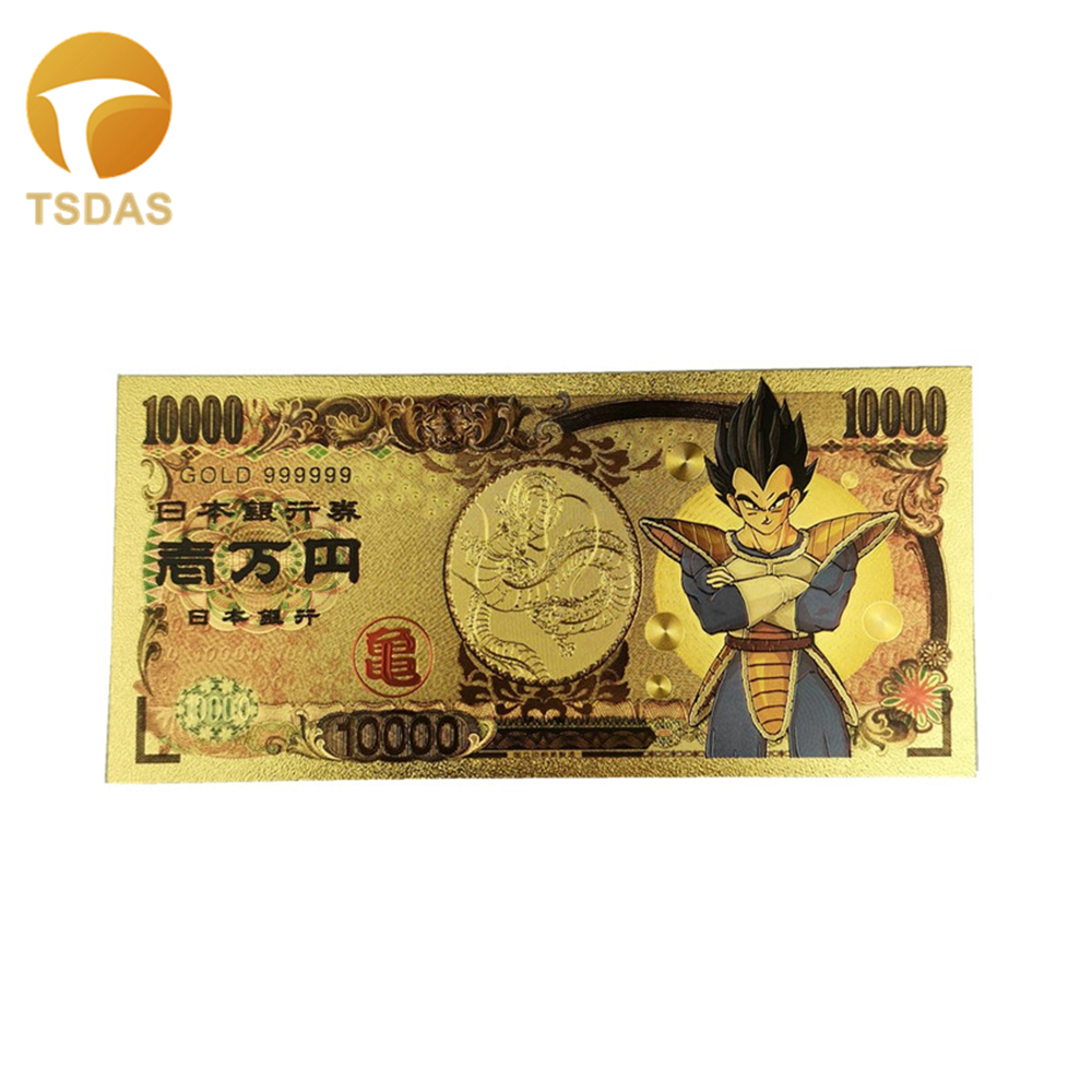 Colorful Gold Banknote 5000 Yen Japan Bill Note Paper Money for Best Souvenirs
