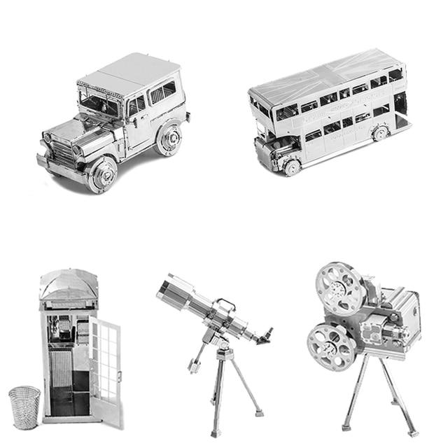 3D Metal Puzzle Model Kit DIY Stainless Steel Starship DOCTOR WHO TARDIS Animal Ship Adult Jigsaw DIY Jigsaw Manual Gift Toys 1