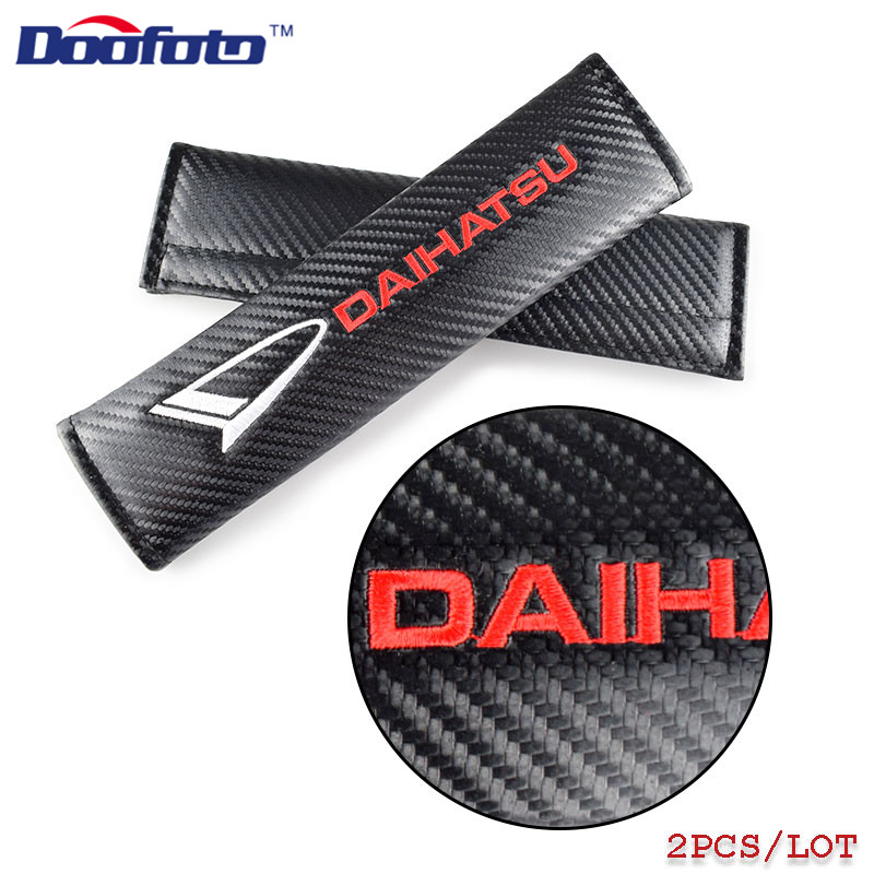 Doofoto Car Styling Seat Belt Cover Shoulder Protective Padding For Daihatsu Terios Sirion Mira Materia Rocky YRV Feroza Charade
