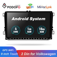 Podofo Car Radio Android GPS Navigation Multimedia Player 2 Din 9