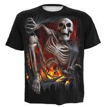 Цельный Лидер продаж футболка оверсайз Скелет дьявол женщина