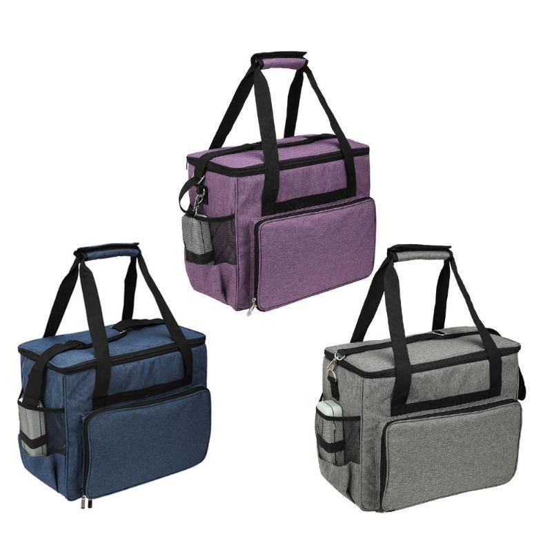1PCS Oxford Cloth Sewing Machine Storage Bag Large Capacity Sewing Tools Handbag Knitting Needle Yarn Bags Sewing Organizer