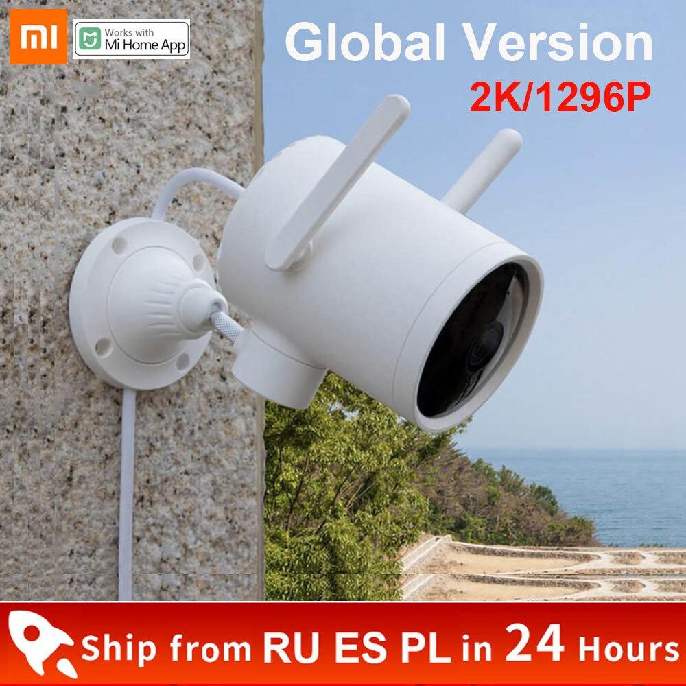 Глобальная версия Xiaomi 2K 1296P Smart Открытый Wi-Fi камера Водонепроницаемый PTZ IP веб-камера 270 угол двойная антенна сигнала IP камера ночного видения