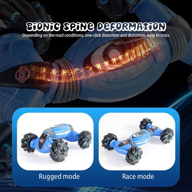 Remote Control Stunt Car Gesture Induction Twisting Off-Road Vehicle Light Music Drift Dancing Side Driving RC Toy Gift for Kids 2