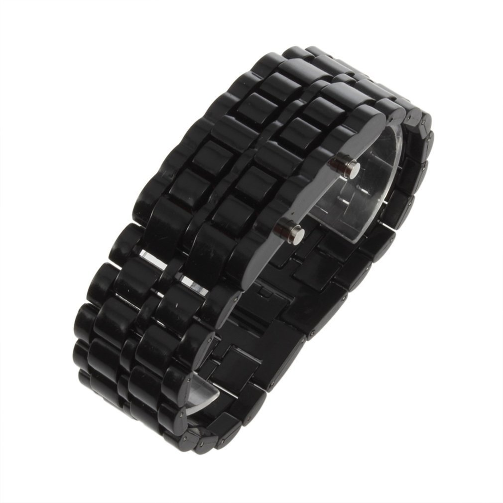 OUTAD Men Women Digital Watch Lava Iron Samurai Plastic LED Bracelet Watch Wristwatch Sports Style Relogio