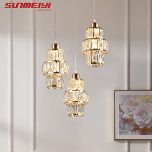 Image 1 - Nordic LED Pendant Lights Crystal Gold Hanging Lamp For Dining Table Bar Kitchen Living room lampada industrial Modern Light