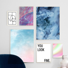 Watercolor Abstract Landscape Wall Art Print Canvas Painting Nordic Poster And Prints Pictures For Living Room Decor