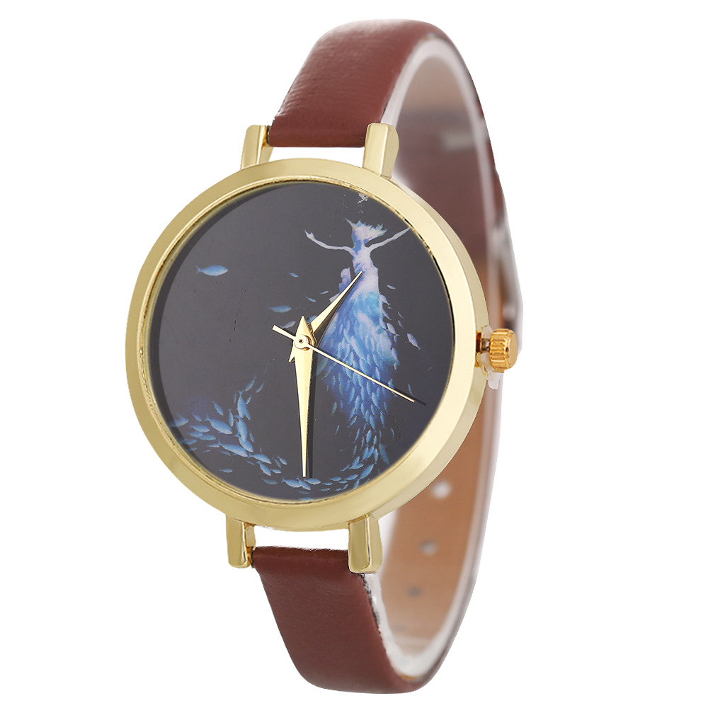 Image 2 - POFUNUO New Arrive Womens Fashion Luxury Watches Quartz Leather Band Wristwatch Unisex Popular Clock Gift-in Women's Watches from Watches