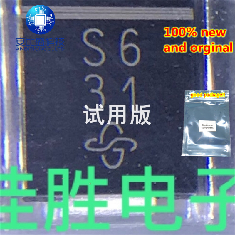 25-50pcs 100% New And Orginal SS36 3A60V DO214AB/C Silk-screen S6  In Stock