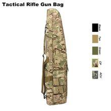 Odkryty Tactical polowanie pojemnik wyścielany pistolet torba taktyczne karabin pneumatyczny kabury Airgun pokrowiec pistolet pokrowiec ochronny z paskiem na ramię