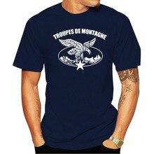 T-shirt Double face De l'armée des Troupes De Montagne Chasseurs alpinins, nouvelle collection française
