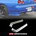 Стайлинг автомобиля для Nissan Skyline R34 GTR Nismo Style FRP  удлиняющее стекло заднего Spat