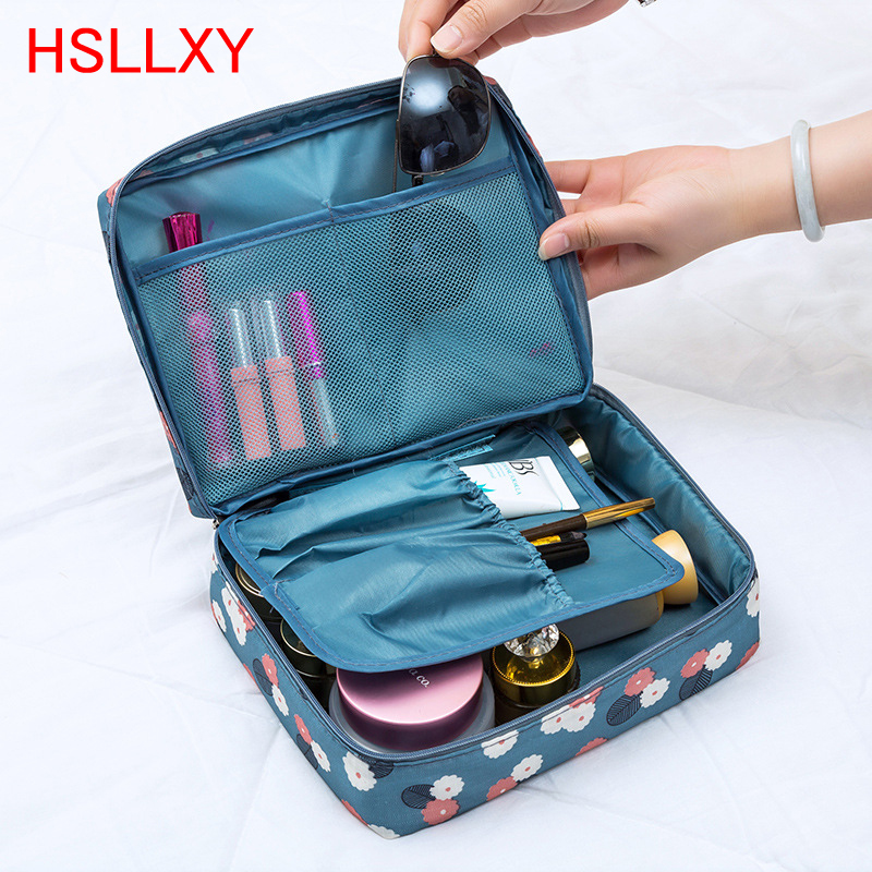 2018 New Travel Fashion Women Cosmetics Cosmetic Bag Beautician Storage Bags Large Capacity Women Wash Bag Makeup Bags For Women