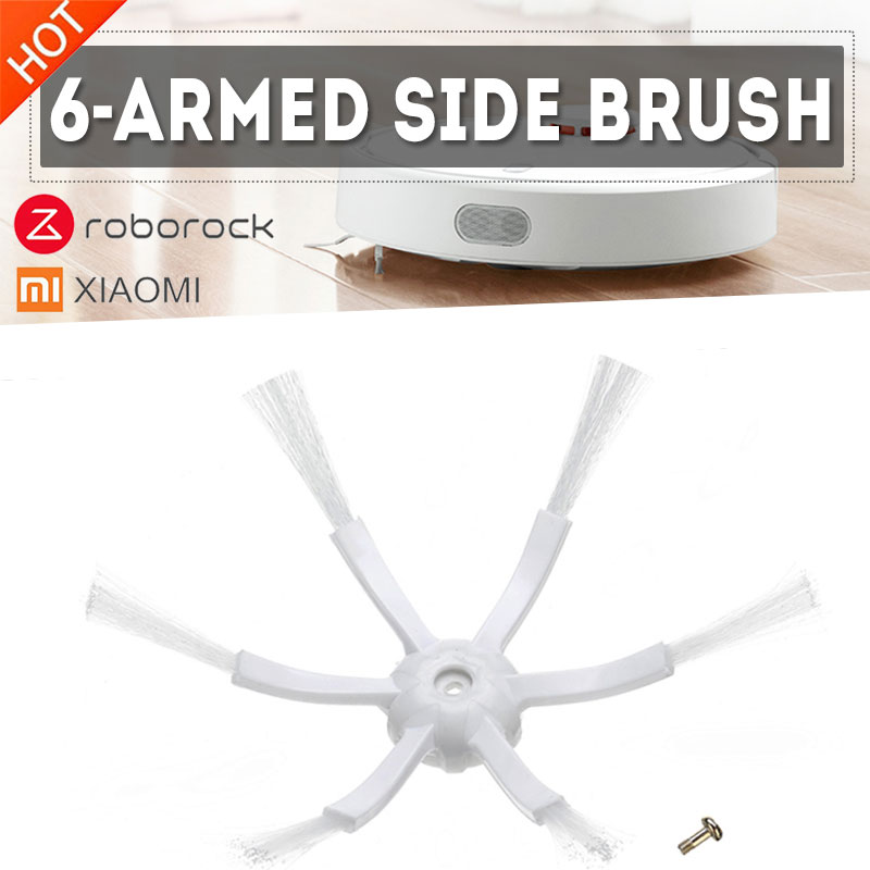 XIAOMI New Generation 6 Arms Side Brush For Xiaomi Roborock S50 S51 S55 Robot Vacuum Cleaner Parts Accessories