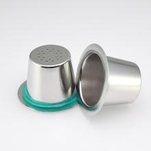 Kolor srebrny filtr do kawy ze stali nierdzewnej filtr do kawy gospodarstwa domowego wielokrotnego napełniania metalowy filtr do kawy tanie tanio