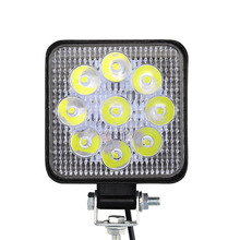 9-32V 27W Car 9-LEDs Work Lamps Square Light IP67 6000K Aluminum Alloy 2700LM For Off-Road ATV Truck Motorcycle Boat
