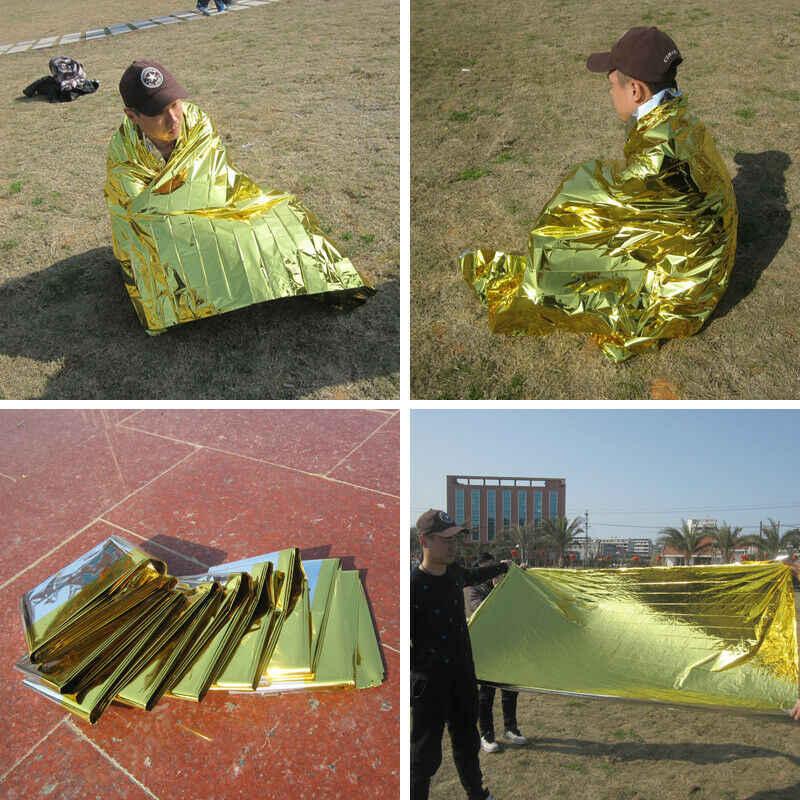 Nova moda à prova dwaterproof água de emergência solar cobertor segurança sobrevivência isolamento mylar calor térmico