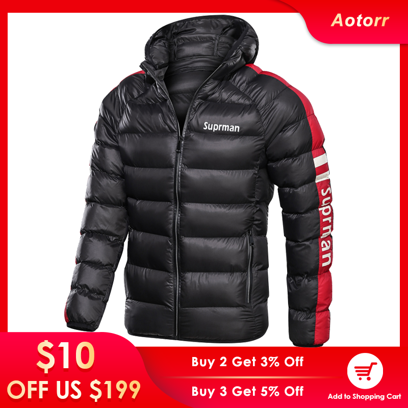 Winter Coat Jacket Parkas Hooded Down Warm Waterproof Outwear Male Thick Men Casual Man title=