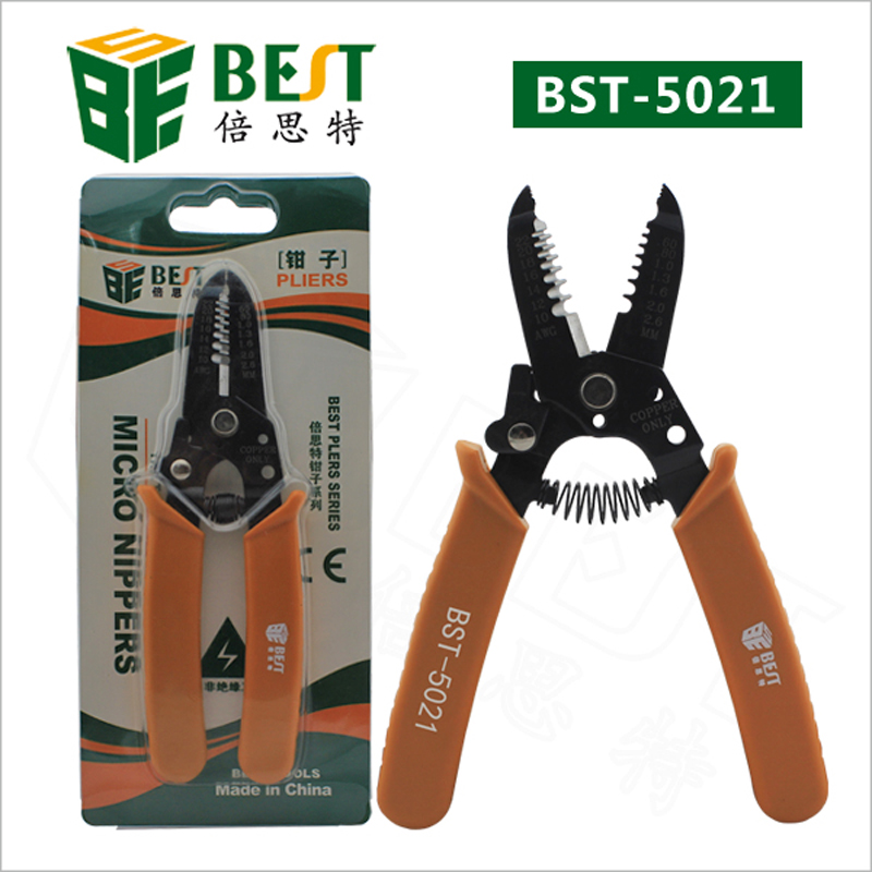 BST-5021 Multi-purpose Wire Stripper Pliers Cable Wire Stripper Alloy Steel Automatic Wire Stripper Hand Tools