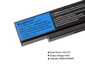 Image 5 - Kingsener A32 K72 batería de portátil para ASUS K72Y K73 K73B K73BR K73BY K73E K73J K73JK K73S K73SD K73SJ K73SM K73SV K73T