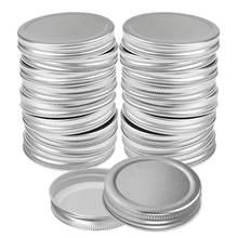 12 pçs 70mm 86 tampas de frasco de pedreiro mmreusável boca larga tampa de vedação à prova de vazamento para frascos de conservas prata 2020