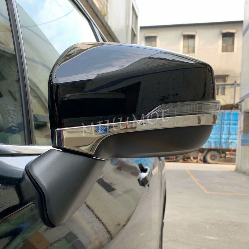 Steel Side Rearview Mirror Trims For Subaru Forester SK 2019 2020 Accessories