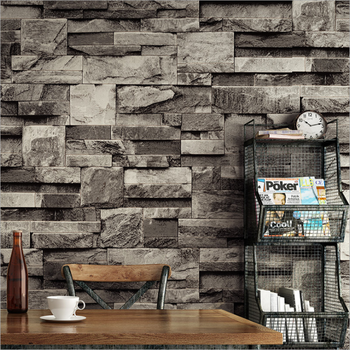 Black Gray Waterproof Retro Brick 3D PVC Wallpaper Vinyl Home Decoration Wallpaper Wall Sticker Mural Restaurant Living Room beauty little girl wall sticker pvc wallstickers wall art wallpaper for kids room decoration waterproof adesivi murali lw588