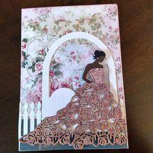 Rose Dress Cutting Dies Stencil Scrapbooking DIY Album Stamp Paper Art Decor