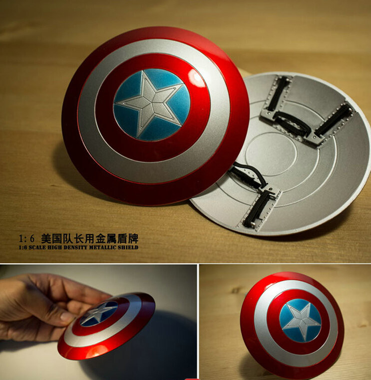 Dropshipping 1/6 Captain America Shield Metal Material Can Buckle Hand For 12
