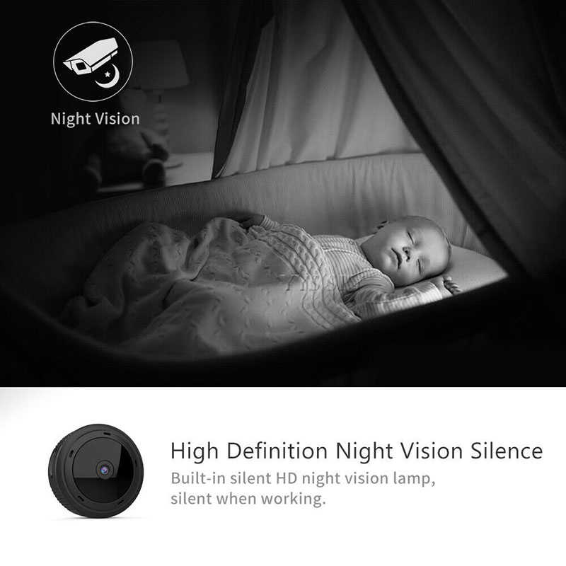 Mini cámara Wifi Espia 1080P, cuerpo magnético, 8 Uds., visión nocturna, Sensor de movimiento, vídeo HD, mando a distancia, Micro cámara IP, compatible con tarjeta TF oculta