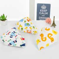 Washable Bib Cotton Soft Convenient Baby Saliva Bibs Triangular Towel Funny Design Cute Cartoon Design Baby Bath Towels Stuff