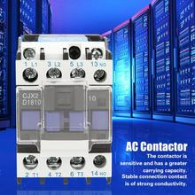 цена на CJX2-1810 AC Contactor High Sensitivity 220V 18A Household ac Modular contactor Industrial Electric AC Contactor