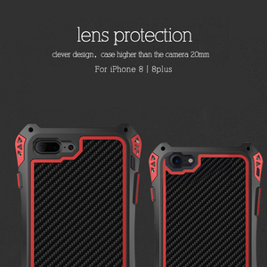 Image 4 - R JUST Metal Case for iPhone 7 8 Plus X XR XS MAX Cover Shockproof Hybrid Rugged Armor Case for iPhone 7 8 11 Pro Max Cover