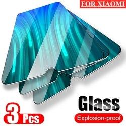 3 sztuk pełne szkło ochronne dla Redmi 8 8A 7 7A K20 Pro Mi 9T ochraniacze ekranu dla Xiaomi Redmi uwaga 6 7 8 9 Pro szkło hartowane