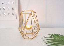 2PCS wrought iron candlestick Nordic creative modern minimalist decoration home decorations