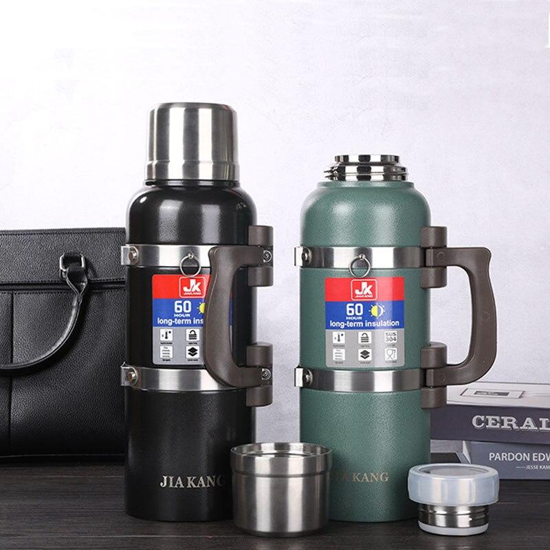 Новинка 4000 мл Термос с изоляцией из нержавеющей стали для путешествий, кемпинга, походов, Термокружка, термосы, большая бутылка для воды, Термокружка, 4л