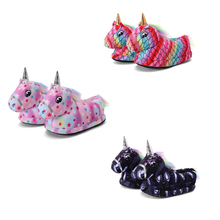 Unicorn Slippers Children Shoes Animal Funny Girls Boys Kids Warm Kigurumi Soft for Cartoon