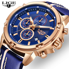 Relogio Masculino LIGE Hot Fashion Mens Watches Top Brand Luxury Wrist Watch Qua