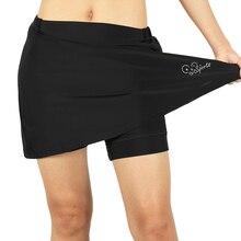 Для женщин 2-в-1 Велоспорт шорты наборы для ухода за кожей с гель мягкий вкладыш велосипедные шорты быстросохнущая Спортивная юбка S/M/L/XL