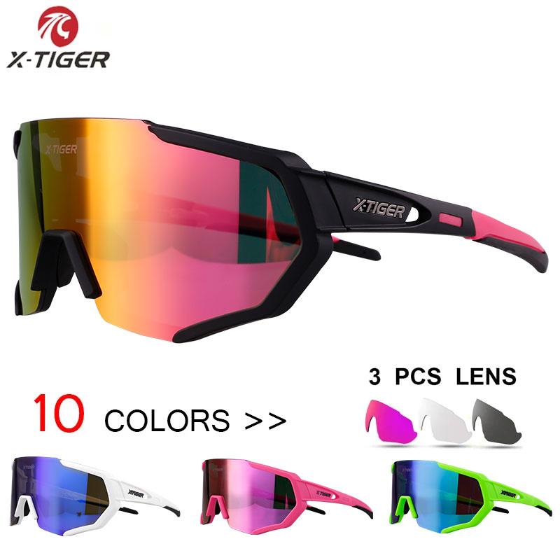X TIGER Women Polarized Cycling SunGlasses MTB Bicycle Cycling Eyewear Ciclismo Men Cycling Glasses Mountain Racing Bike Goggles