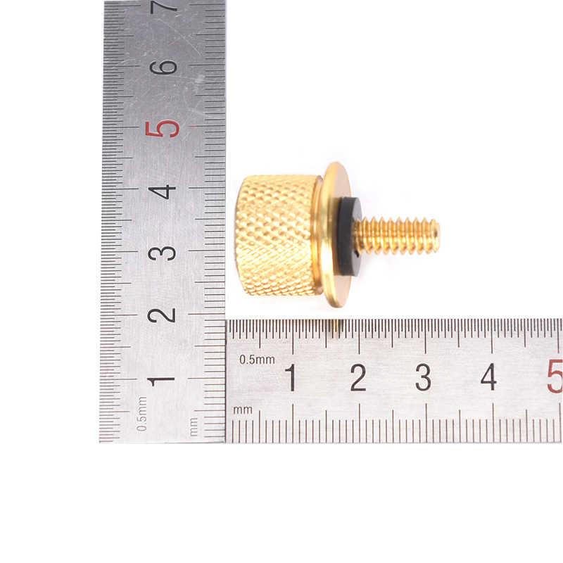 """1/4 """"-20 Softail Dyna Sportster XL 883 1200 Kustom Benang Knurled Kepala Sekrup Cap Kursi Belakang Cepat Gunung baut"""