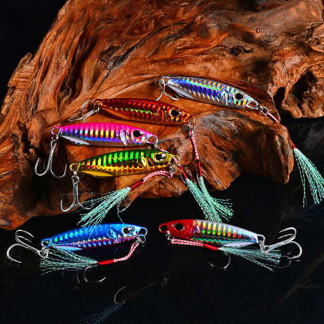 HOT NEW 10g 15g 20g 30g 40g 50g fishing jigging lure spoon spinnerbait metal bait bass tuna lures jig lead minnow pesca tackle 6