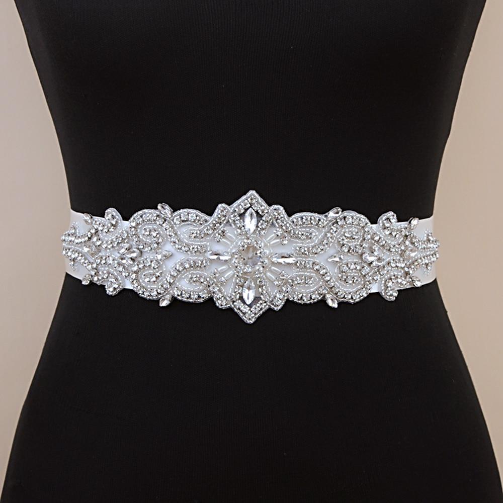 TRiXY S26 Crystal Belt Wedding Belt Rhinestone Czech Stones Bride Bridal Belt Sash Wedding Accessories Evening Dress Belt Sashes