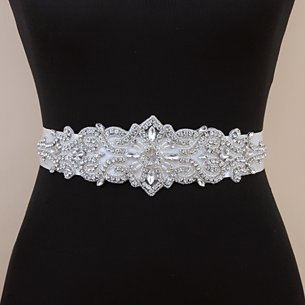 TRiXY S26 Crystal Wedding Belt Rhinestone Czech Stones Bride Bridal Belt Sashes Wedding Accessories Evening Dress Belt Sashes