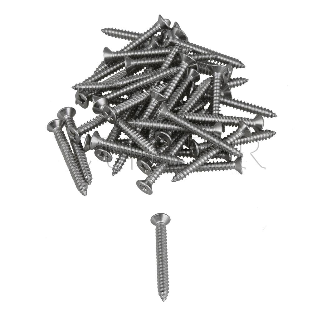 CNBTR 50Pcs M4 <font><b>x</b></font> <font><b>35mm</b></font> Cross Countersunk Flat Head Self-tapping <font><b>Screw</b></font> for Home image