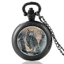 Классические черные карманные часы со стеклянным куполом в виде