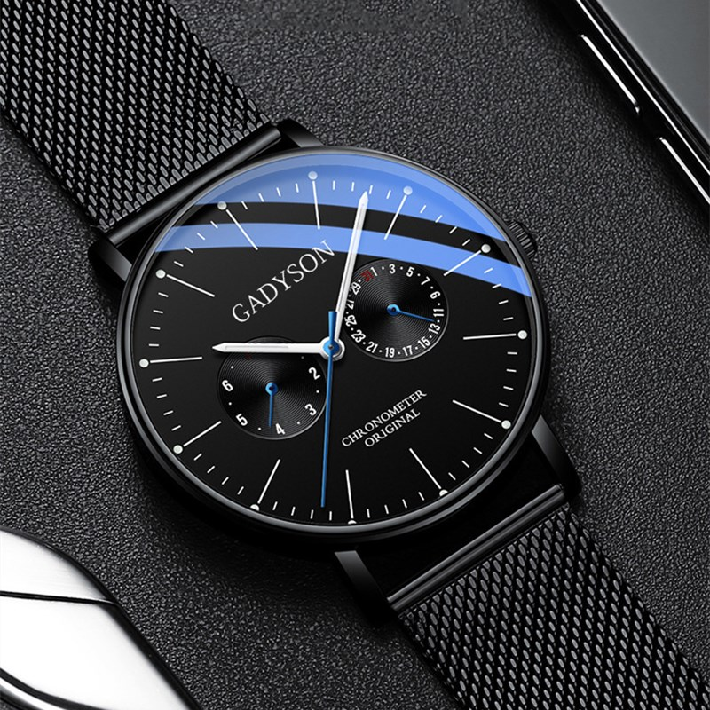 Watches Men Business Luxury Quartz Men Watch Wrist Classic Wristwatch Mens Simple Mesh Belt Male Clock For Man Relogio Masculino