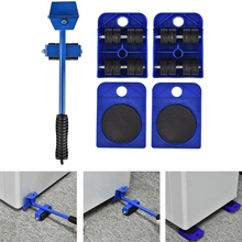 Transport-Lifter-Tool-Set Furniture Lifting-Wheel-Bar Hand-Moving 5pcs Mover-Device-Kit